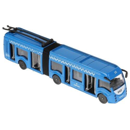 Купить Троллейбус ТЕХНОПАРК SB-18-11WB(IC) 12 см синий, Машинки и техника
