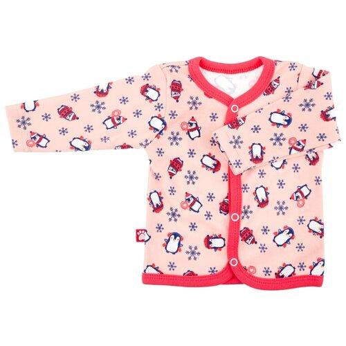 Распашонка KotMarKot размер 62, розовый распашонка для девочки lucky child цветочки цвет светло розовый 11 7 размер 62 68 2 3 месяца