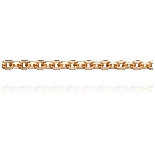 АДАМАС Цепь из золота плетения Якорь одинарный ЦЯ150СА4-А51, 55 см, 5.17 г