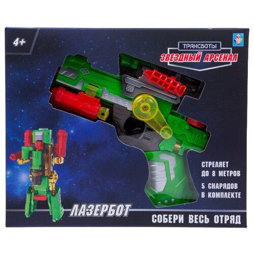 Купить Трансформер 1 TOY Трансботы Звездный арсенал - Лазербот Т16336 зеленый/красный/желтый, Роботы и трансформеры