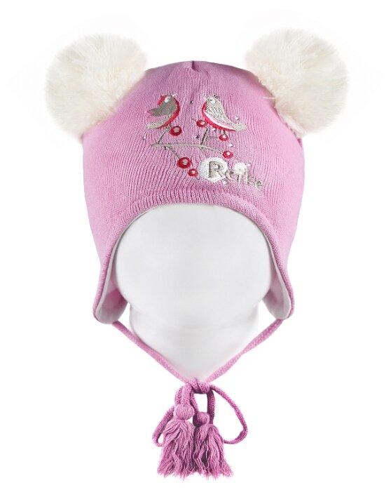 """Шапка для девочки Reike """"Птички и ягоды"""" (цвет: розовый, размер 48)"""