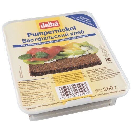 Delba Хлеб Вестфальский 250 г