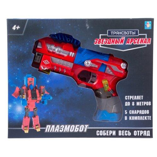Купить Трансформер 1 TOY Трансботы Звездный арсенал - Плазмобот Т16333 красный/синий/черный, Роботы и трансформеры