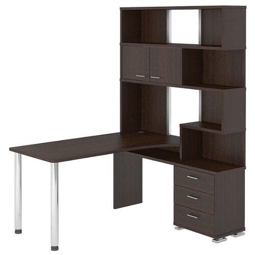 Компьютерный стол угловой Мэрдэс Домино СР-420, 130х150 см, тумба: справа, цвет: венге террариум в угловой 60л 420 420 410