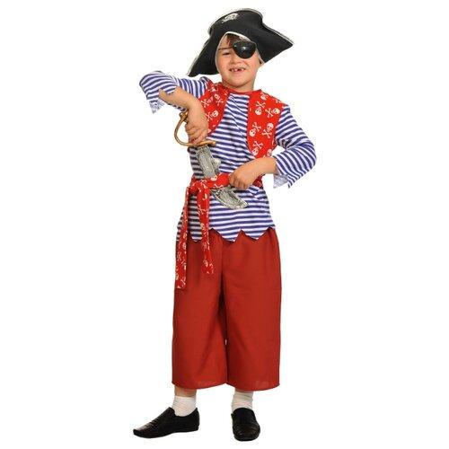 Купить Костюм КарнавалOFF Пират Билли (5058), красный/синий, размер 134-140, Карнавальные костюмы