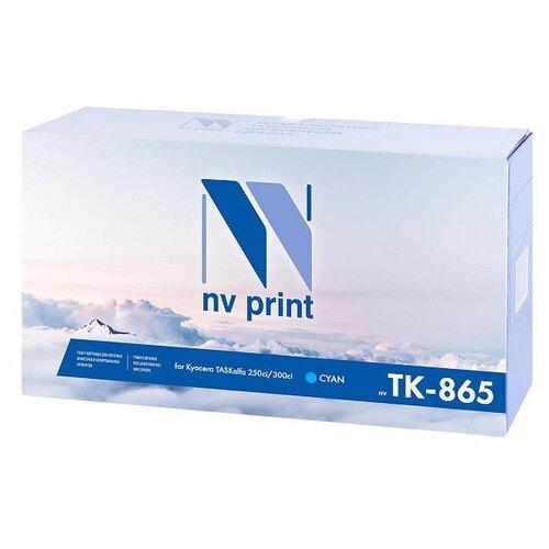 Фото - Картридж NV Print TK-865 Cyan для Kyocera, совместимый картридж nv print tk 8335 cyan для kyocera совместимый