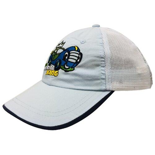 Купить Бейсболка Be Snazzy размер 44, голубой/белый, Головные уборы