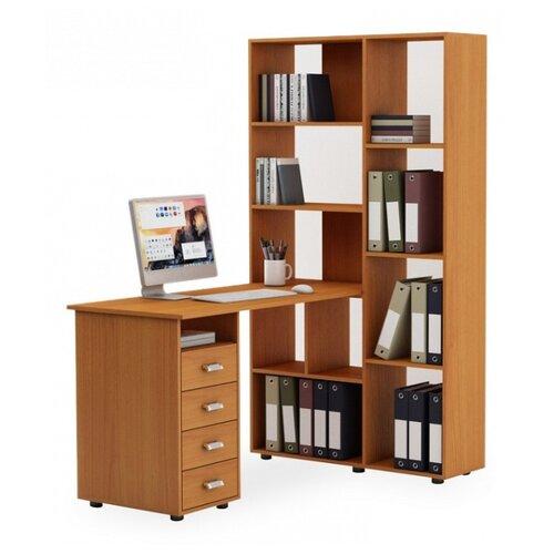 цена на Компьютерный стол Владимирская мебельная фабрика Оксфорд-2, 140х98.4 см, цвет: вишня оксфорд