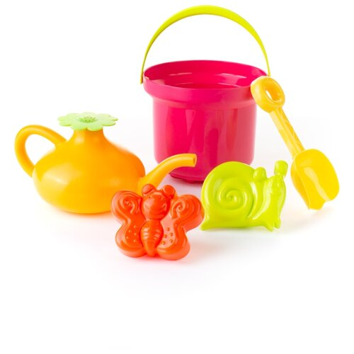 Купить Набор Росигрушка Луковка 4129 розовый/желтый/зеленый/оранжевый, Наборы в песочницу