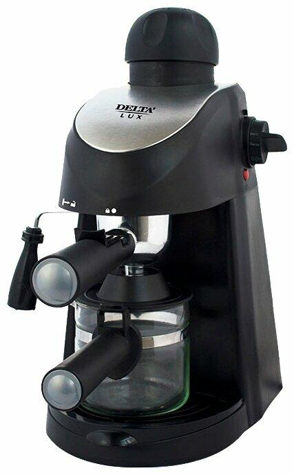 Кофеварка DELTA Lux DL-8150К черная