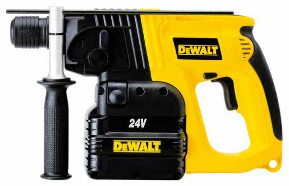Перфоратор аккумуляторный DeWALT DW004K2 Ni-Cd 24 В (2 Дж)