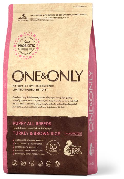 Корм для собак ONE&ONLY (3 кг) Индейка