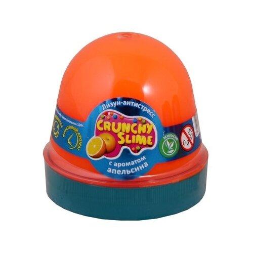 Лизун Mr.Boo! Crunchy slime с ароматом апельсина оранжевый