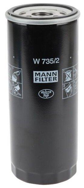Масляный фильтр MANNFILTER W735/2