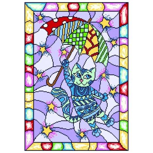божественная осень рисунок на канве 37 49 37х49 28х40 матренин посад 1821 Витраж. Волшебный кот Рисунок на канве 37/49 37х49 (28х40) Матренин Посад 1918