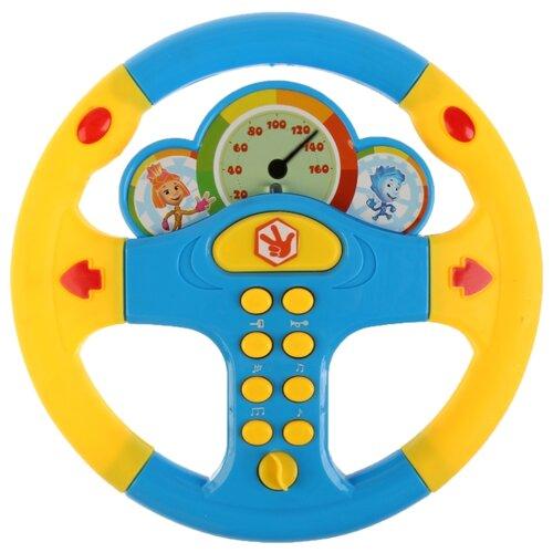 Купить Интерактивная развивающая игрушка Играем вместе Музыкальный руль Фиксики (B1634468-R) синий/желтый, Развивающие игрушки