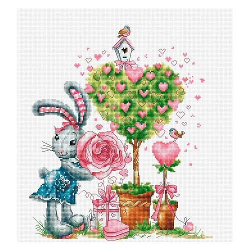 Купить Luca-S Набор для вышивания Валентинка 22.5 х 26.5 см (B1125), Наборы для вышивания