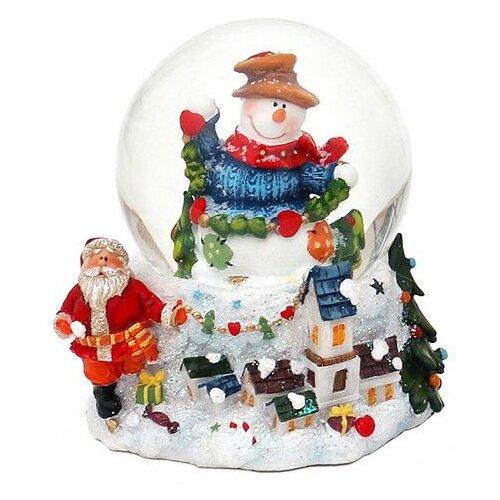 Снежный шар Sigro Вдохновенный снеговик в шляпе (50-1611) белый по цене 2 730