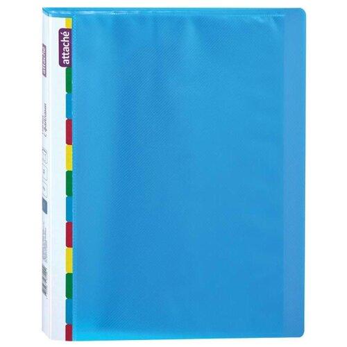 Купить Attache Папка на 20 файлов Diagonal A4, пластик синий, Файлы и папки