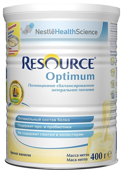 Resource (Nestle) Optimum сухая смесь 400 г