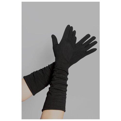 Перчатки женские GL-217059, удлиненные, черного цвета.