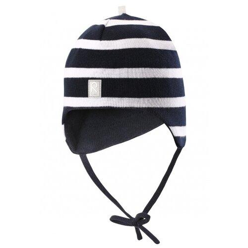 Шапка Reima размер 48, темно-синий/белый шапка для мальчика reima синий
