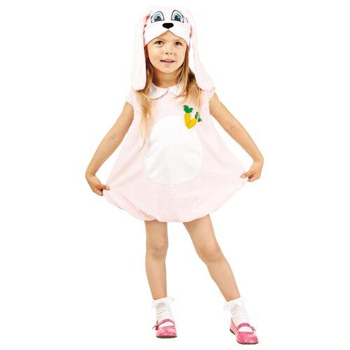 Купить Костюм пуговка Зайка (902 к-17), розовый/белый, размер 104, Карнавальные костюмы
