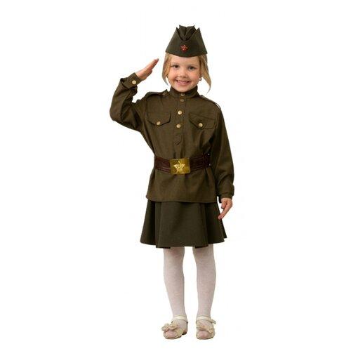 Купить Костюм Батик Солдатка (8009), зеленый, размер 134, Карнавальные костюмы