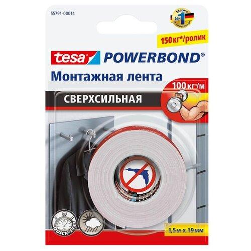 Фото - Клейкая лента монтажная Tesa 55791-00014, 19 мм x 1.5 м клейкая лента малярная tesa 55592 36 мм x 50 м