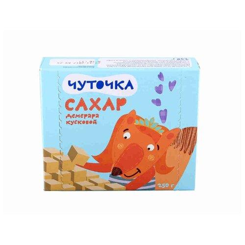 Сахар Чуточка Демерара тростниковый кусковой быстрорастворимый 0.25 кг