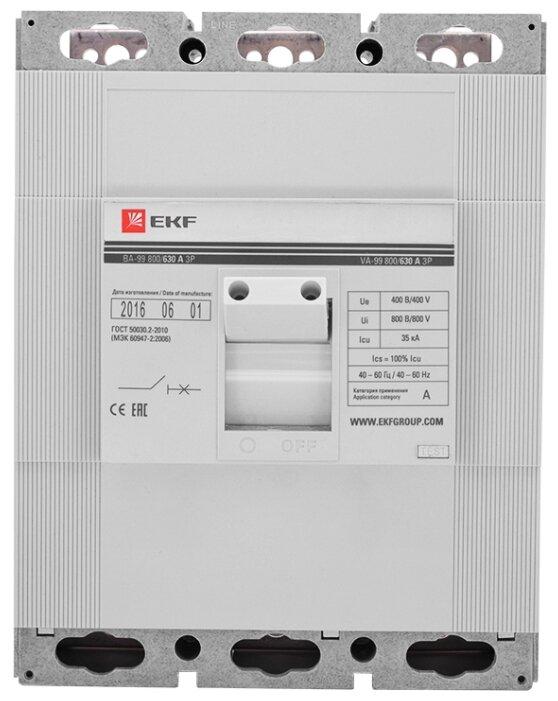 Автоматический выключатель EKF ВА-99 800 3P 35kA