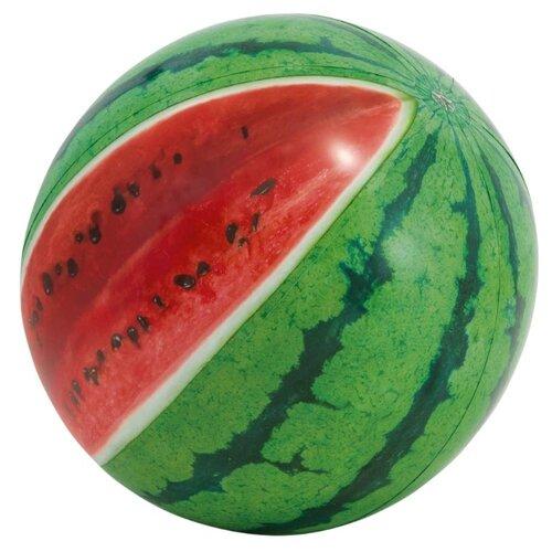цена на Мяч пляжный Intex Арбуз 58075 зеленый/красный