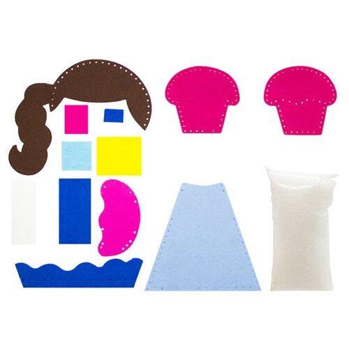 Купить Апплика Набор для изготовления игрушки из фетра Кукла с пирожным (C3309-03), Изготовление кукол и игрушек