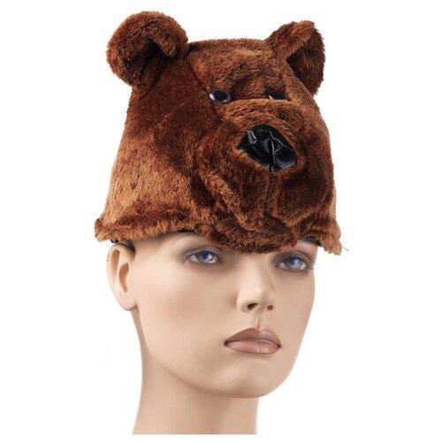 Купить Головной убор SNOWMEN Мишка (Е91162), коричневый, Карнавальные костюмы