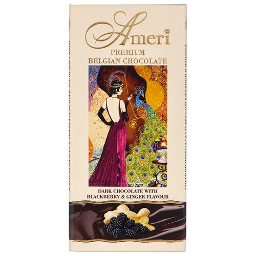 шоколад ameri горький 57% с лимоном и черным перцем 100 г Шоколад Ameri горький с имбирем и ежевикой, 100 г