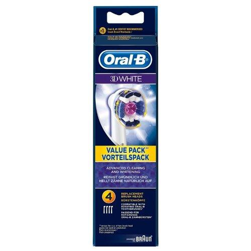 Набор насадок Oral-B 3D White, белый, 4 шт насадки oral b 3d white 2 шт oral b
