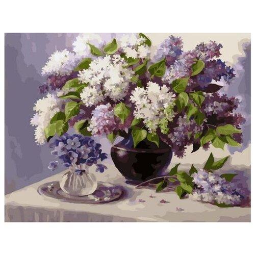 Купить Картина по номерам Paintboy Сиреневый май , 40x50 см, Картины по номерам и контурам