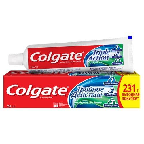 Зубная паста Colgate Тройное действие Натуральная мята комплексная, 150 мл das color assorti натуральная паста для моделирования 150 гр серебро