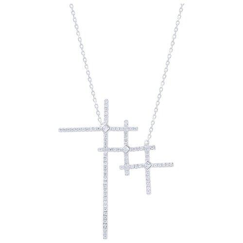 ELEMENT47 Колье из серебра 925 пробы с фианитами N27897-W_KL_001_WG, 40 см