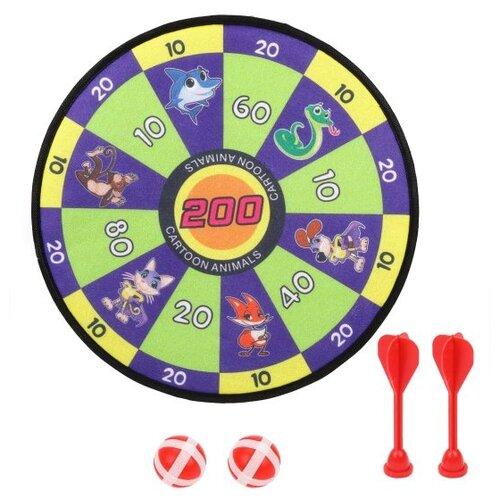 Дартс детский Наша игрушка (326-18) синий/зеленый спортивная игра наша игрушка дартс bb1701