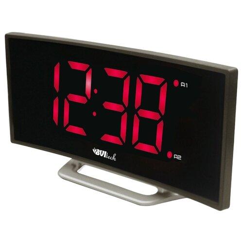 Часы настольные BVItech BV-412 серый/красный настольные часы bvitech bv 412g