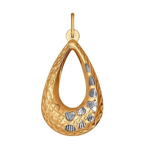 SOKOLOV Подвеска из золота с алмазной гранью 034087