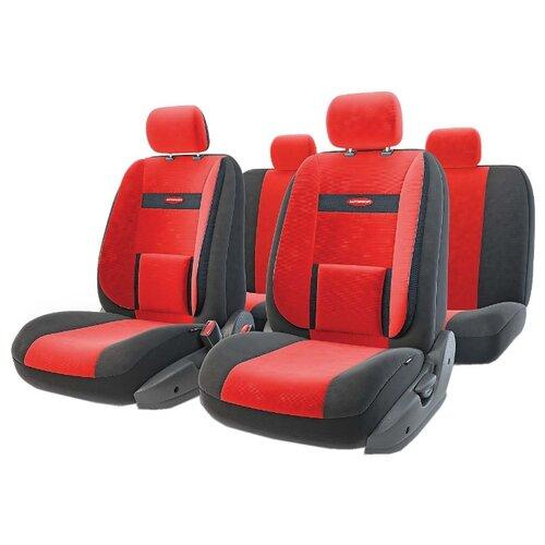 цена на Комплект чехлов AUTOPROFI COM-1105 черный/красный
