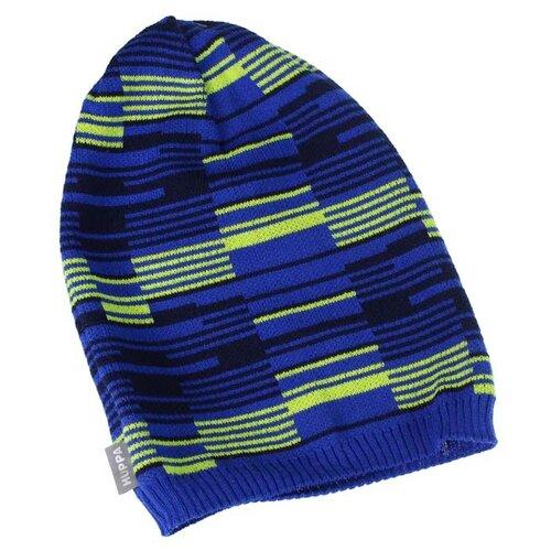 Шапка бини Huppa размер M, синий/ темно-синий/ лайм шапка мужская billabong цвет коричневый l5bn09 bif8 594 размер универсальный