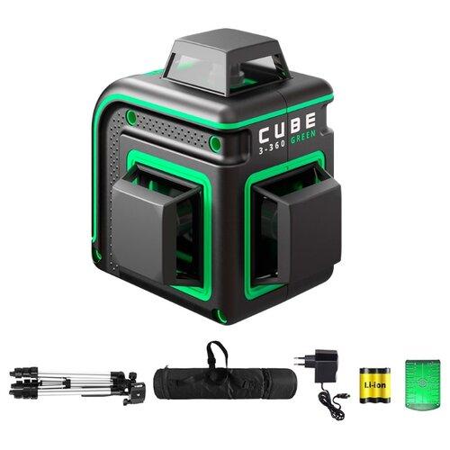 Лазерный уровень ADA instruments CUBE 3-360 GREEN PROFESSIONAL EDITION (А00573) со штативом уровень ada cube 3d professional edition