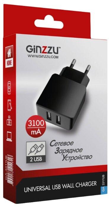 Сетевая зарядка Ginzzu GA-3311UB