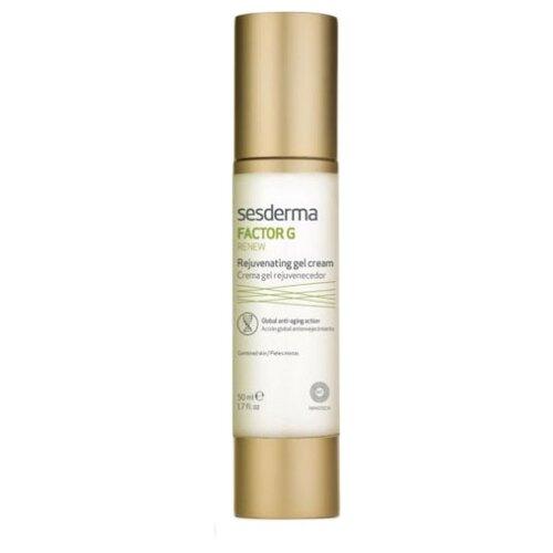 SesDerma Factor G Renew Rejuvenating Gel Cream Регенерирующий гель-крем для лица против морщин, 50 мл chi luxury black seed oil curl defining cream gel