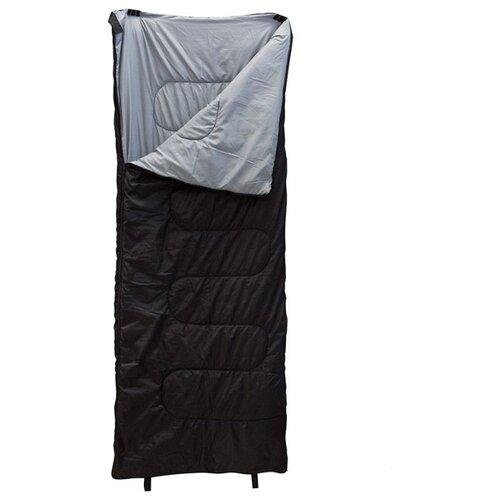 Спальный мешок ECOS US-003 черный с правой стороны