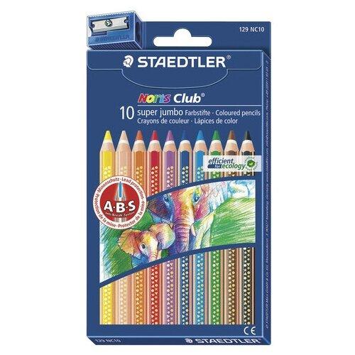 Купить Staedtler Карандаши цветные утолщенные Noris Club, 10 цветов (129 NC10), Цветные карандаши