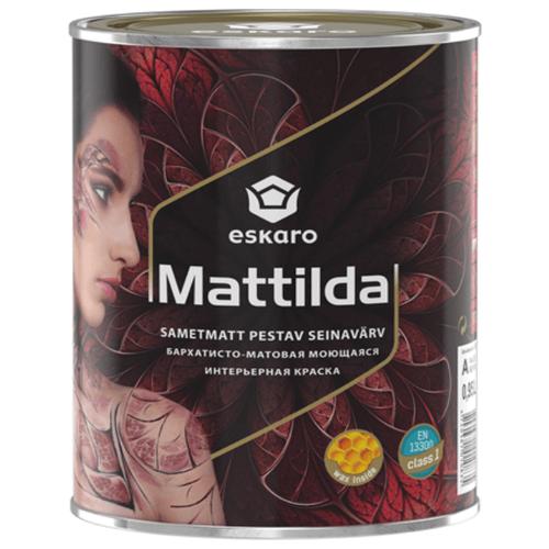 Краска акриловая Eskaro Mattilda моющаяся матовая белый 0.95 л